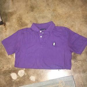 b775297274 Psycho Bunny Purple Polo Excellent Condition 3